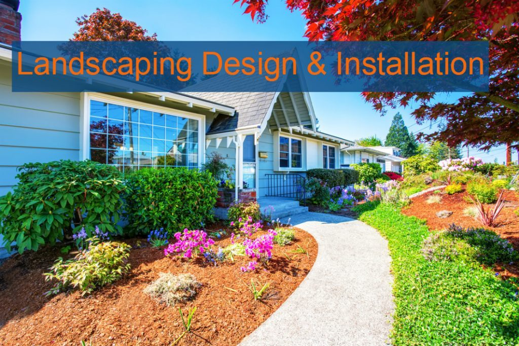 custom mobile landscaping design and installation pic